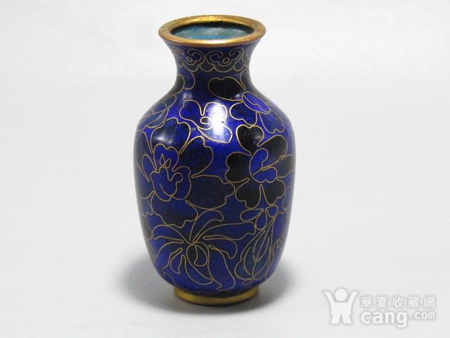 清晚期 紫铜掐丝珐琅 赏瓶 胎釉漂亮图2