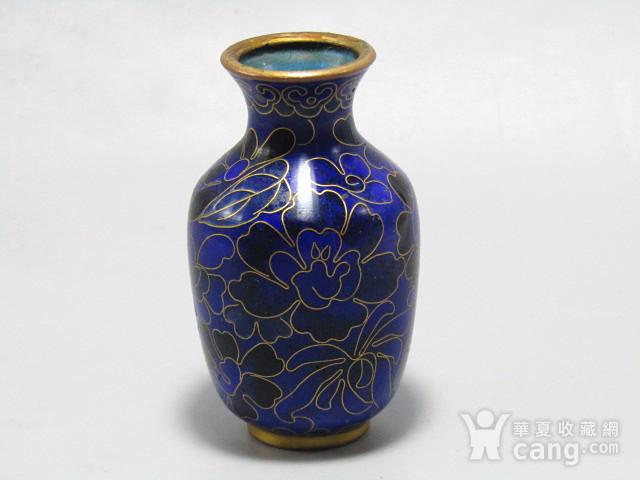 清晚期 紫铜掐丝珐琅 赏瓶 胎釉漂亮图7