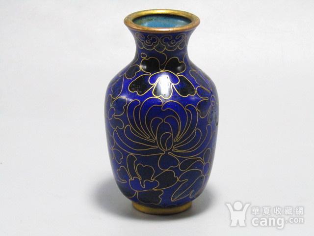 清晚期 紫铜掐丝珐琅 赏瓶 胎釉漂亮图9