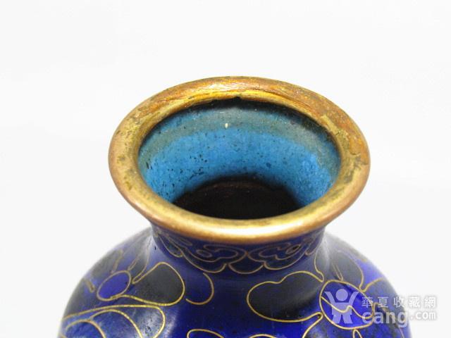 清晚期 紫铜掐丝珐琅 赏瓶 胎釉漂亮图6