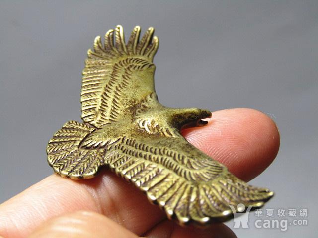 回流 老铜打造 雄鹰展翅 包浆厚重图8