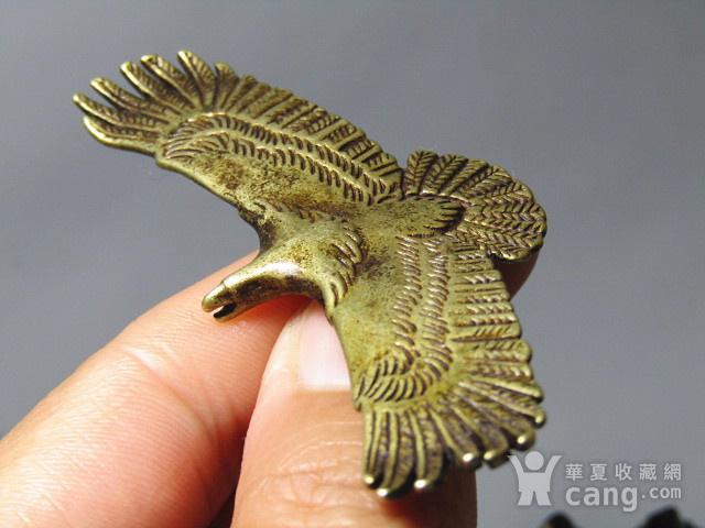 回流 老铜打造 雄鹰展翅 包浆厚重图10