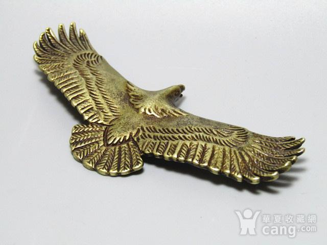回流 老铜打造 雄鹰展翅 包浆厚重图7