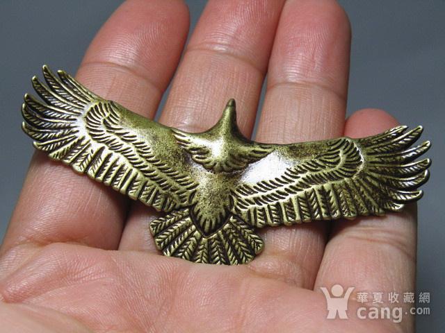 回流 老铜打造 雄鹰展翅 包浆厚重图2