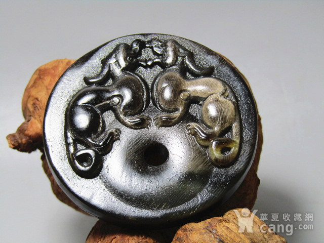 黑干料 双龙 壁 手工雕刻 栩栩如生图2