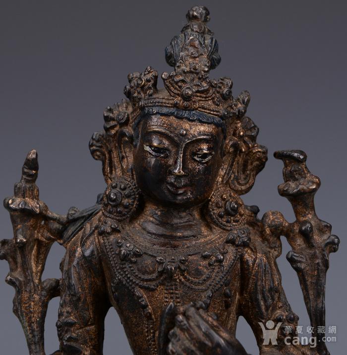 欧洲回流铜镏漆金佛像图2