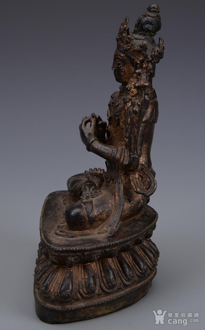 欧洲回流铜镏漆金佛像图4