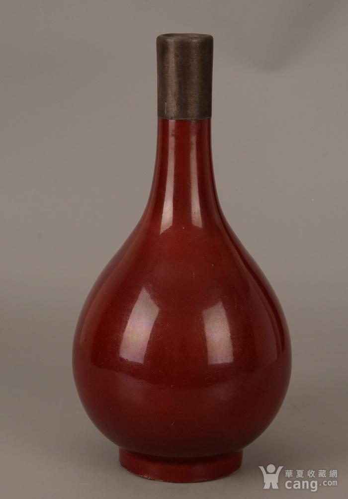欧洲回流红釉胆瓶图1