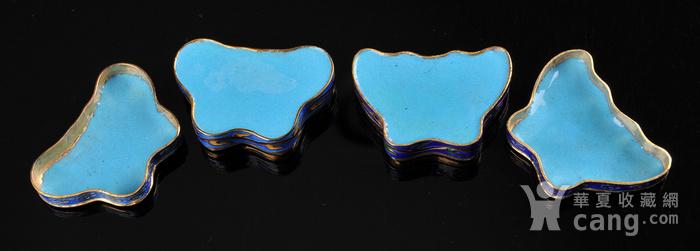 欧美回流 精美景泰蓝蝴蝶形小盖盒一对图10