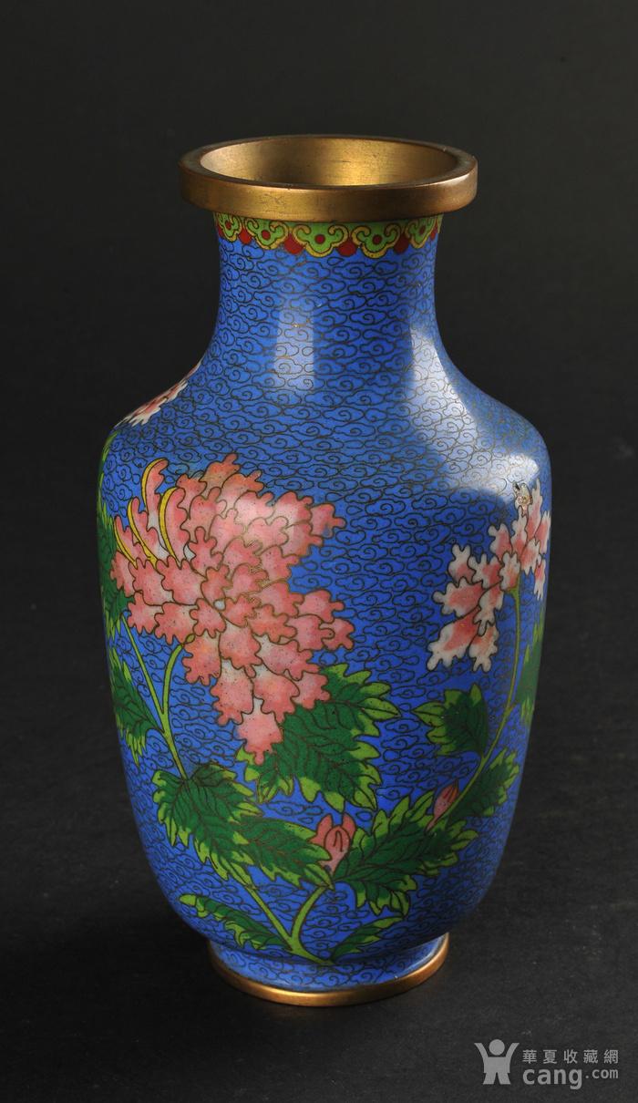 欧美回流 景泰蓝花卉纹瓶图1