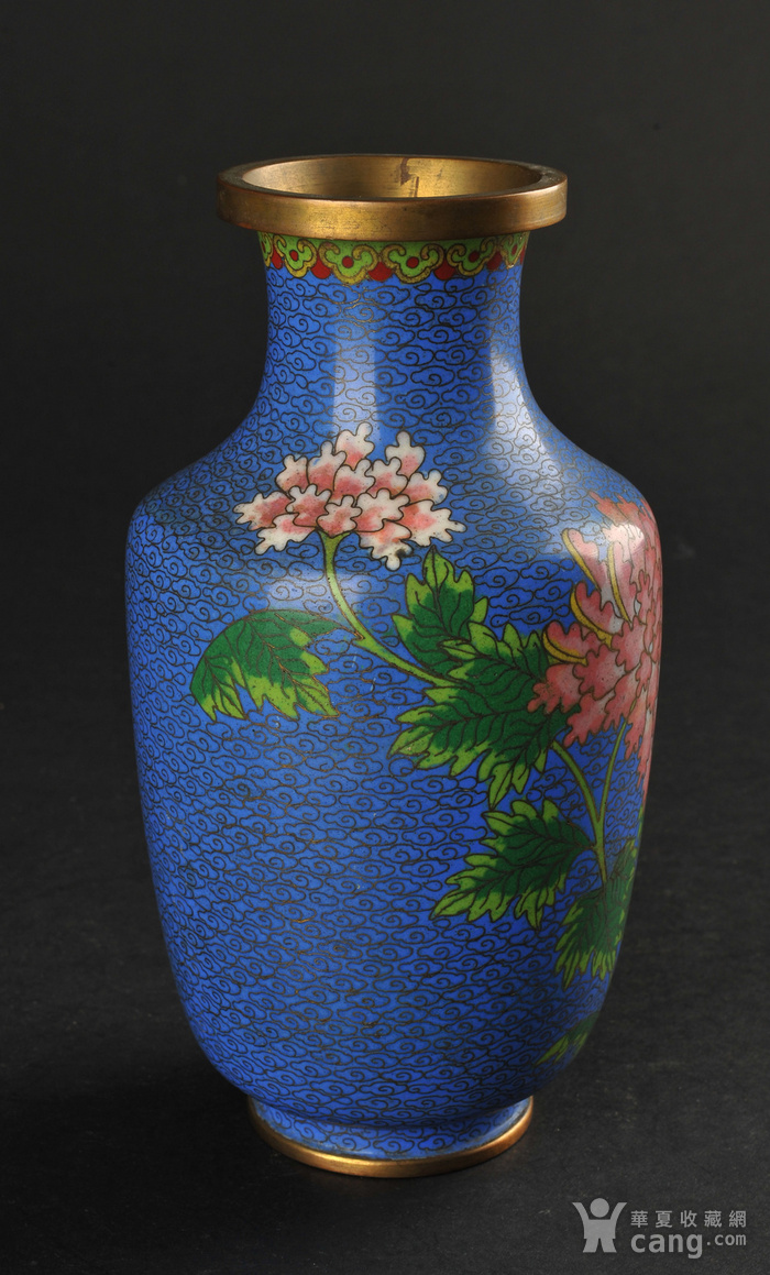 欧美回流 景泰蓝花卉纹瓶图2