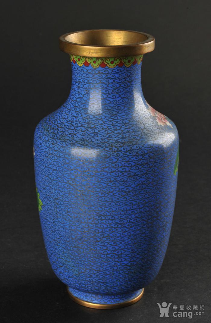 欧美回流 景泰蓝花卉纹瓶图3