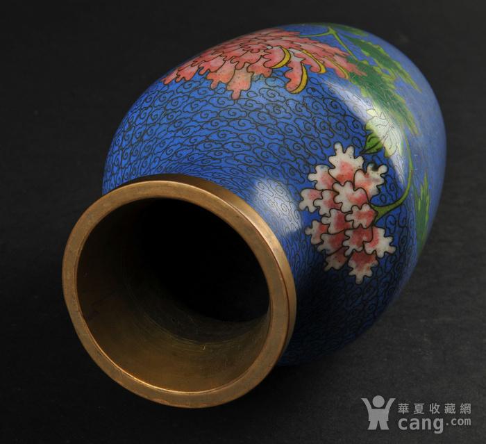 欧美回流 景泰蓝花卉纹瓶图4