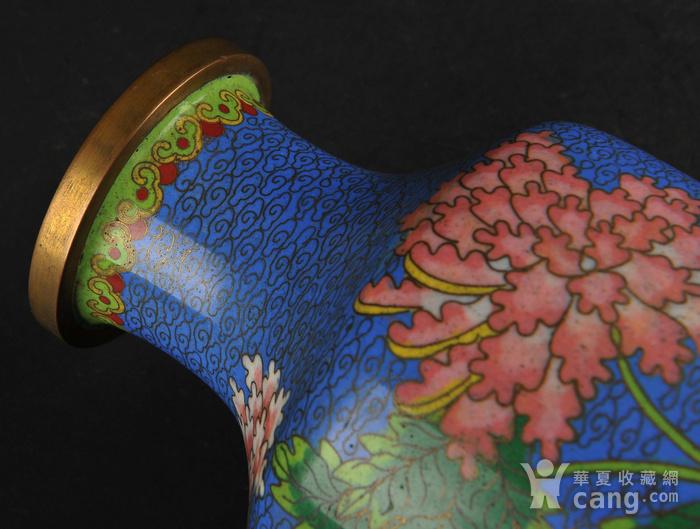 欧美回流 景泰蓝花卉纹瓶图6