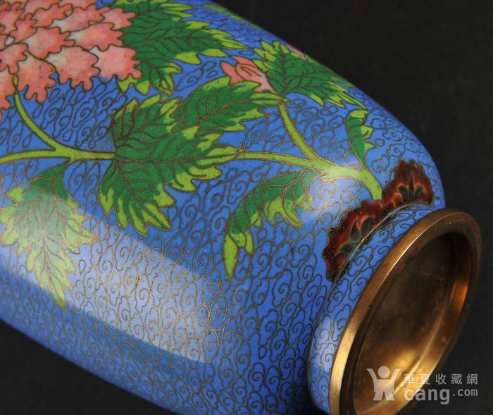 欧美回流 景泰蓝花卉纹瓶图7