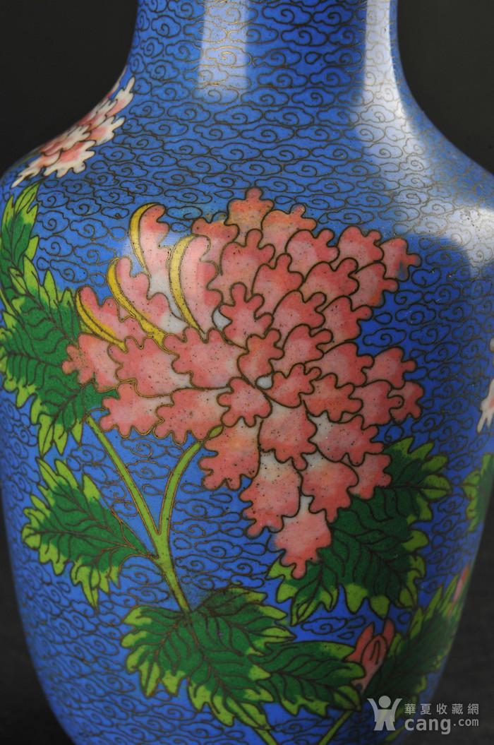 欧美回流 景泰蓝花卉纹瓶图8