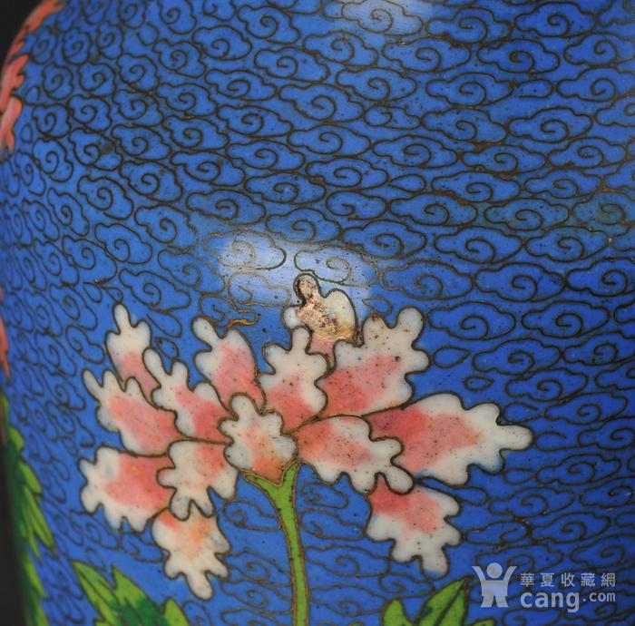 欧美回流 景泰蓝花卉纹瓶图9