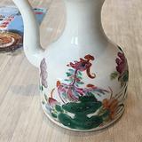 同治粉彩凤戏牡丹精品老酒壶