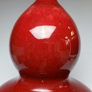 联盟 清中晚期牛血红釉葫芦瓶