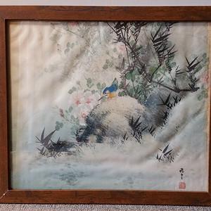 联盟 花鸟纹绢画