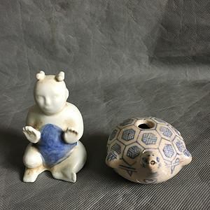 两件珍贵的明代老瓷器。