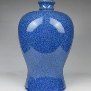 联盟 K1762孔雀蓝哥釉梅瓶