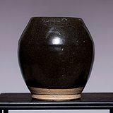 藏海淘 南宋吉州窑黑釉小罐 JZ409