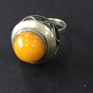 8115欧洲回流老蜜蜡铜戒指