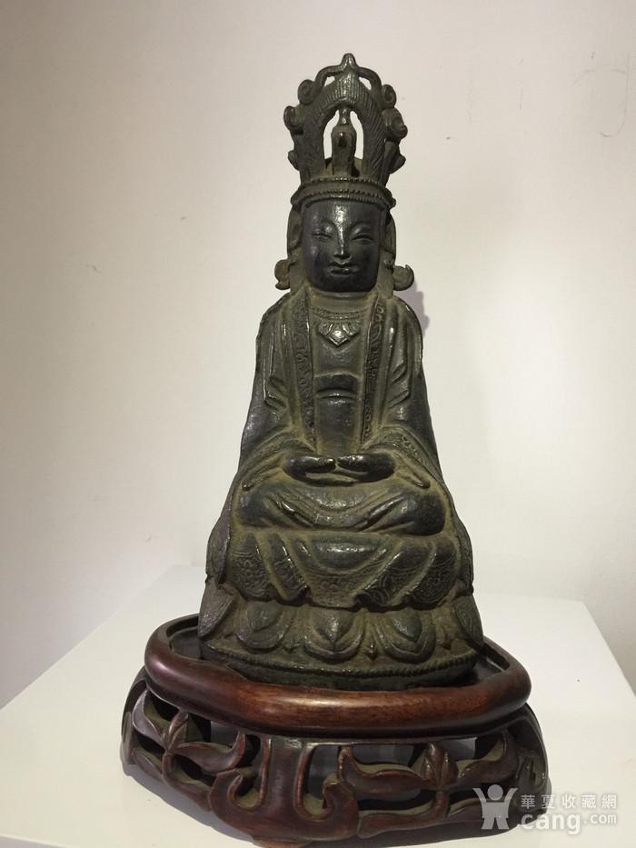 明代铜雕观音菩萨图1