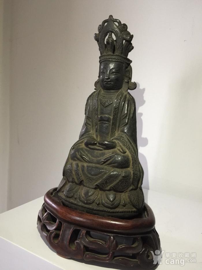 明代铜雕观音菩萨图2
