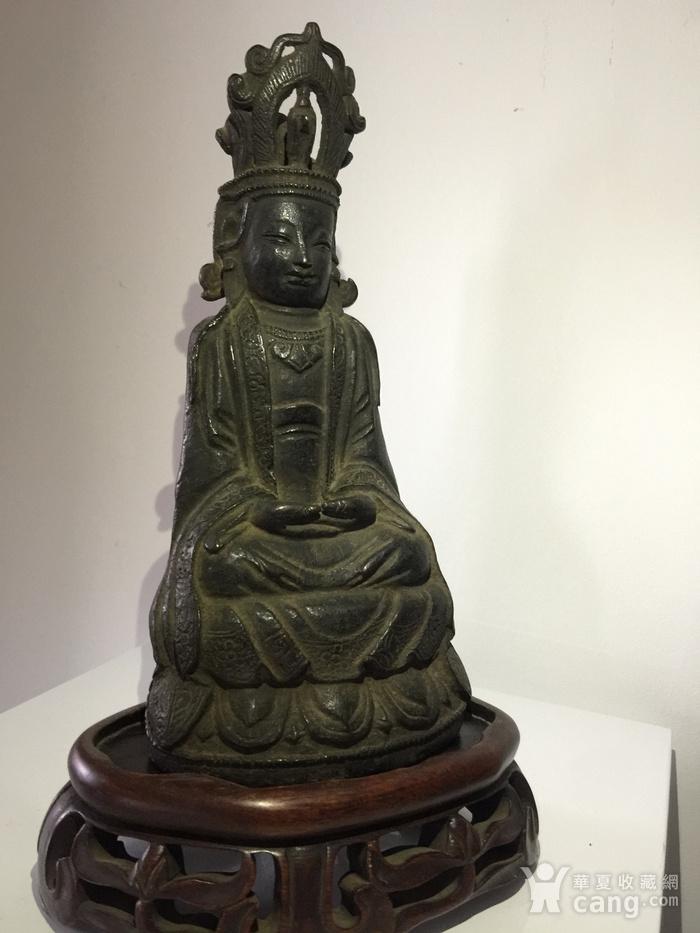 明代铜雕观音菩萨图3