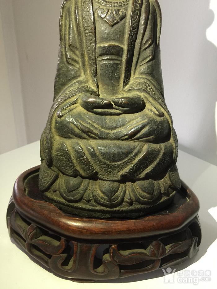 明代铜雕观音菩萨图4