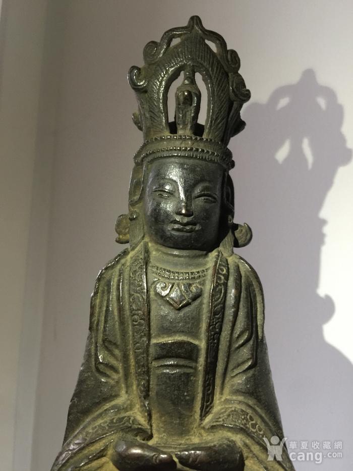 明代铜雕观音菩萨图5