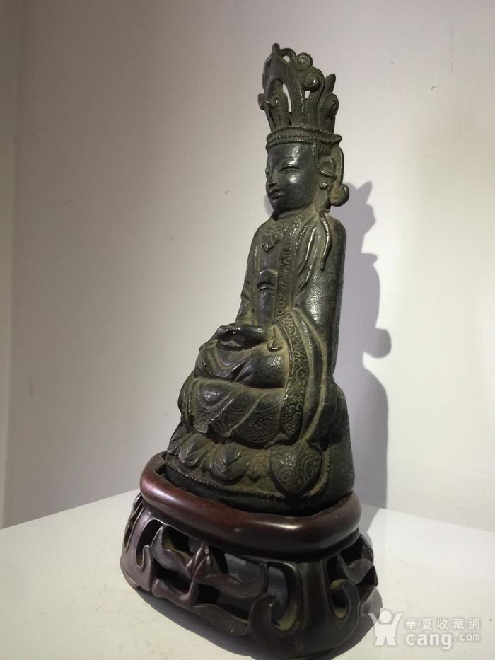 明代铜雕观音菩萨图6