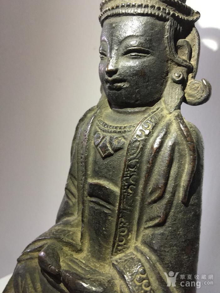 明代铜雕观音菩萨图7