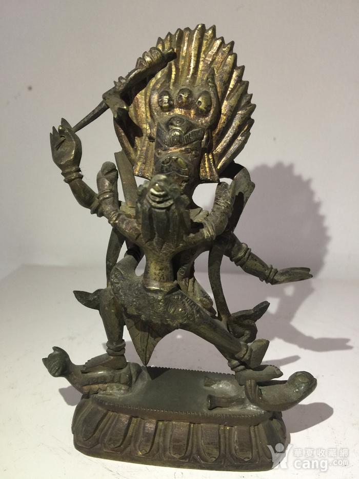 清代铜雕藏传佛教降阎魔尊图1