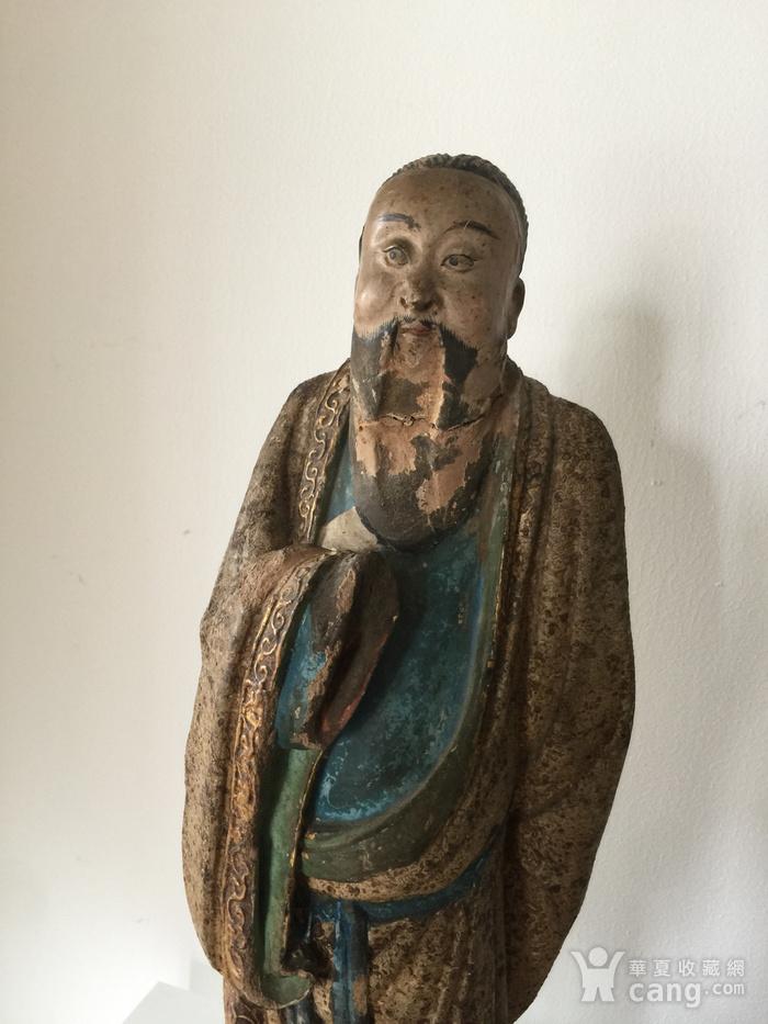 明代泥塑高士像图2