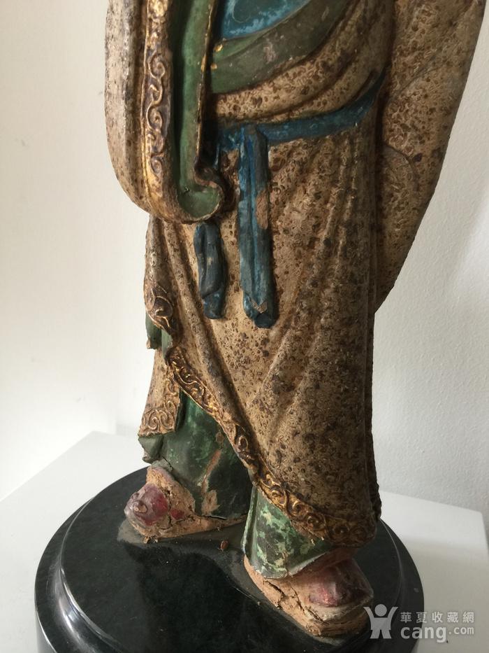 明代泥塑高士像图3