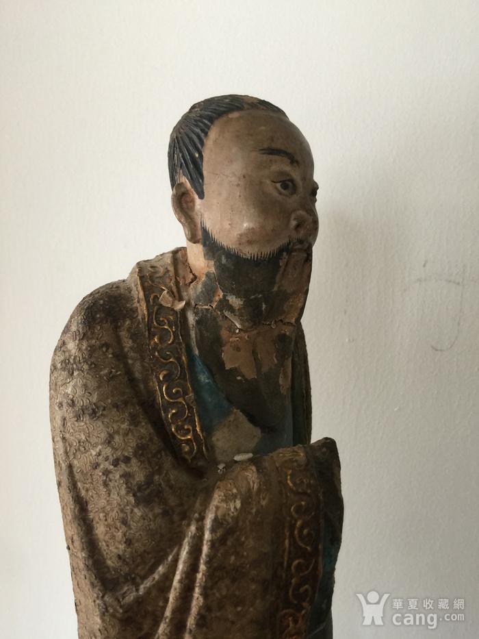 明代泥塑高士像图4