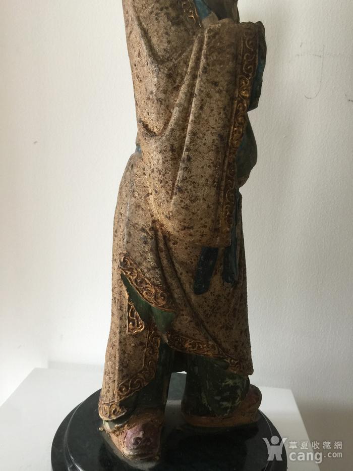 明代泥塑高士像图5