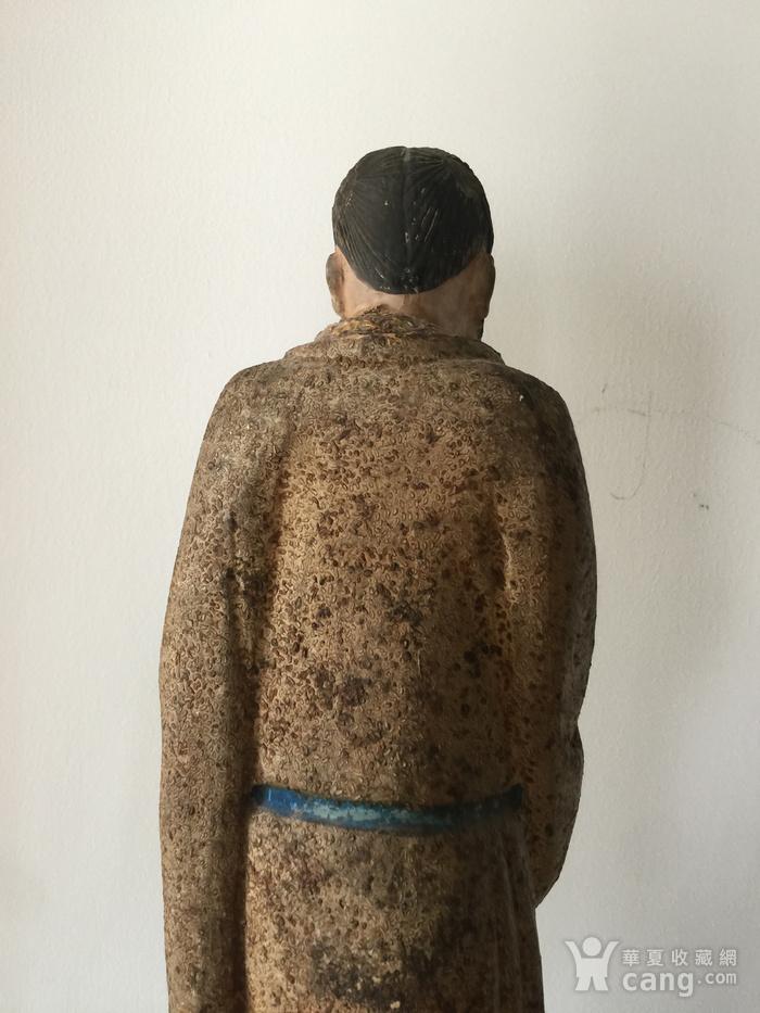 明代泥塑高士像图6