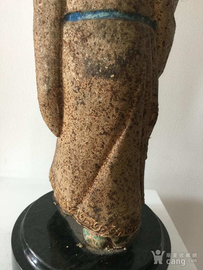 明代泥塑高士像图7