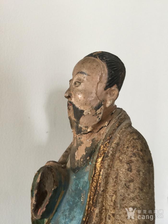 明代泥塑高士像图9