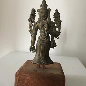 清代弥勒菩萨铜雕说法像