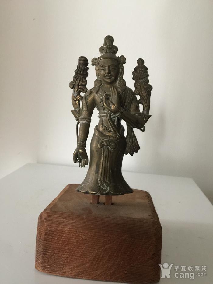 清代弥勒菩萨铜雕说法像图1