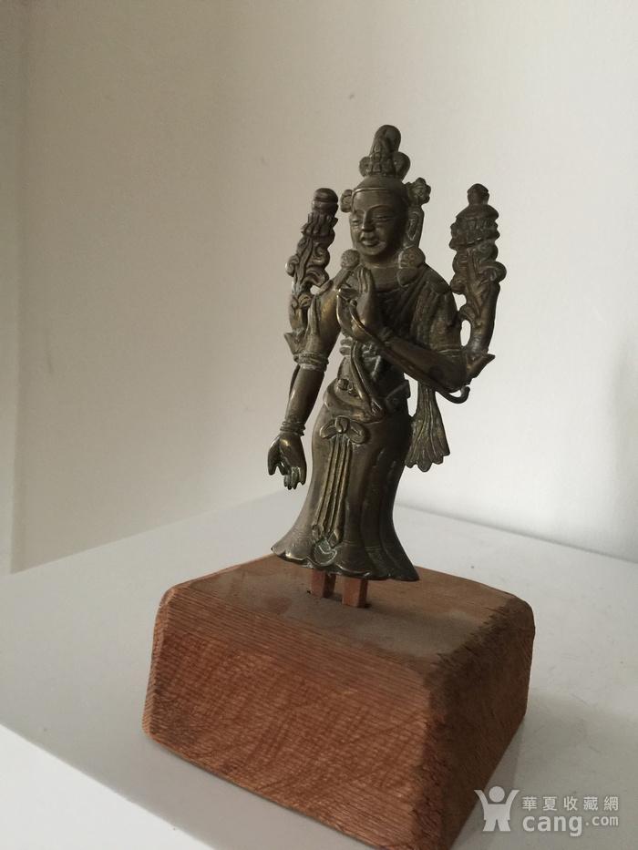 清代弥勒菩萨铜雕说法像图2