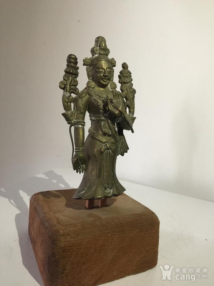 清代弥勒菩萨铜雕说法像图3