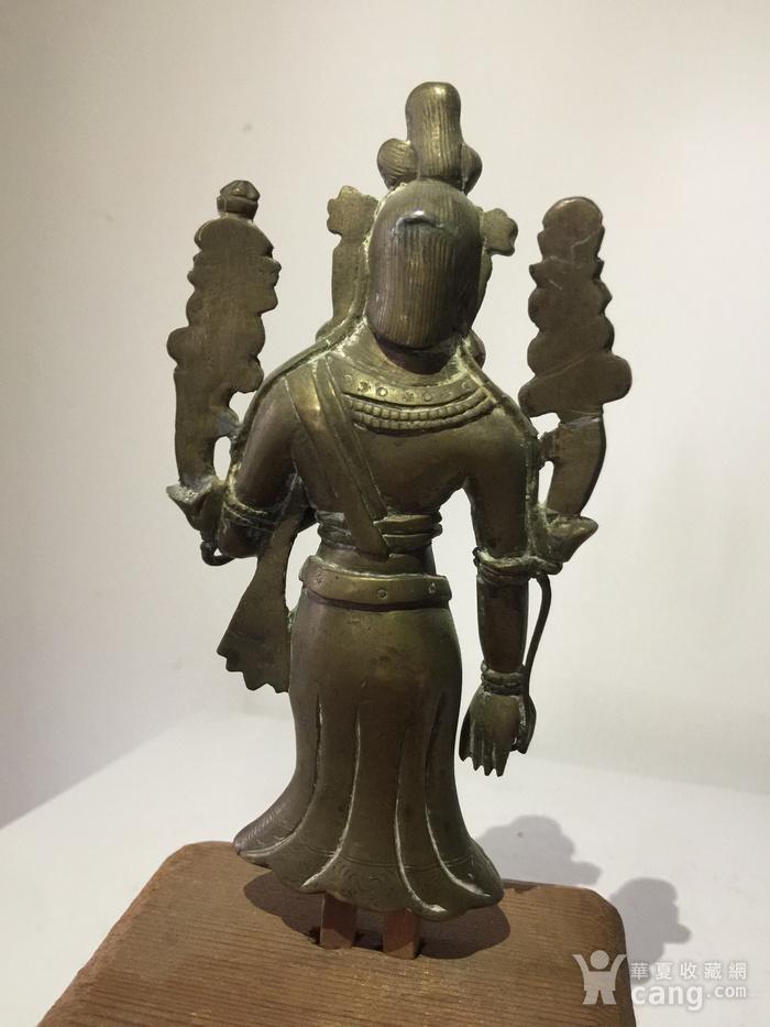 清代弥勒菩萨铜雕说法像图4
