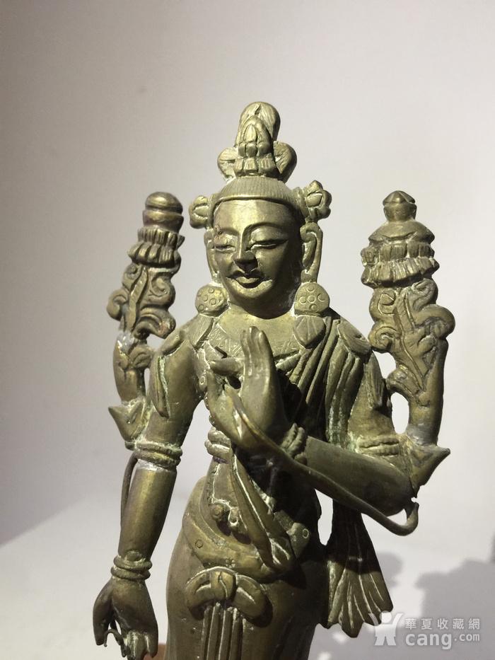 清代弥勒菩萨铜雕说法像图5