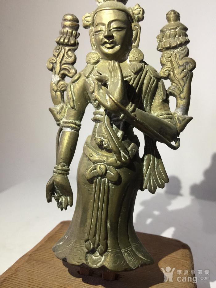 清代弥勒菩萨铜雕说法像图6